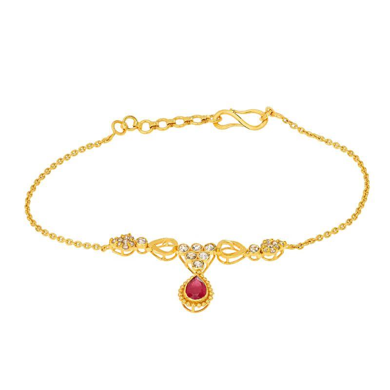22k Diamond Dangling Uncut Diamond Bracelet