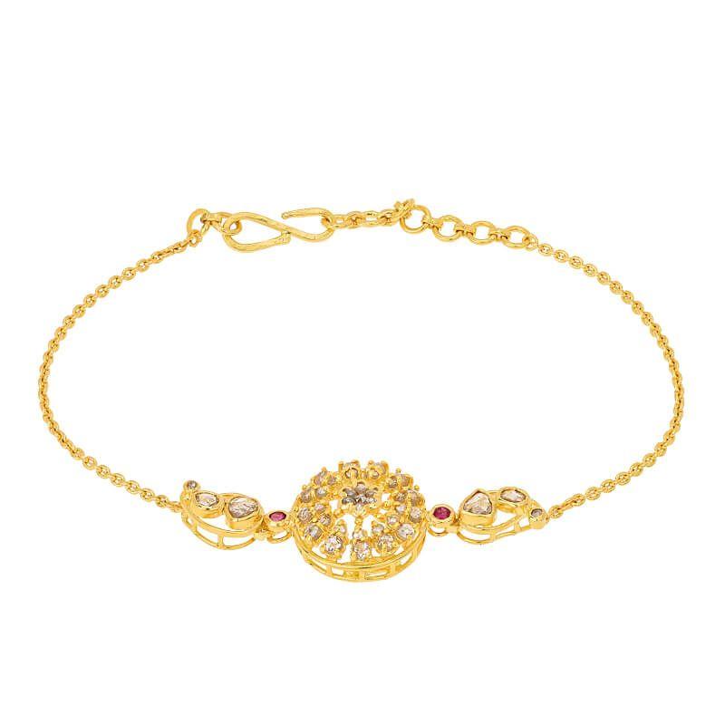 22k Diamond Agus Uncut Diamonds Bracelet