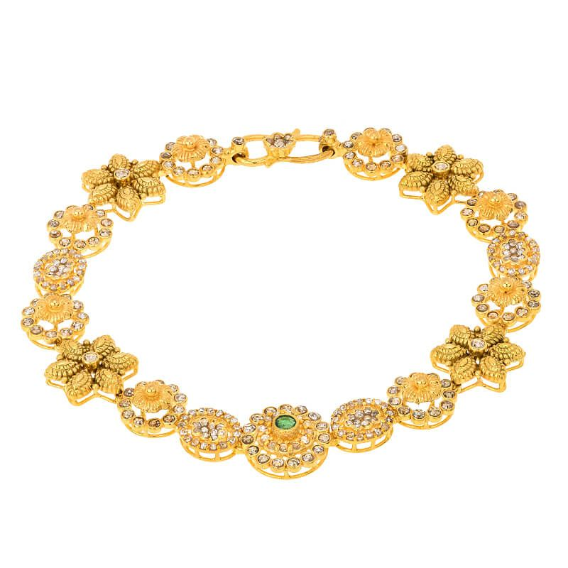 22k Diamond Clusters Uncut Diamonds Bracelet