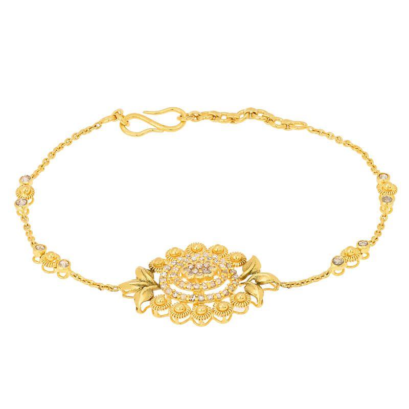 22k Diamond Evara Uncut Diamond Bracelet