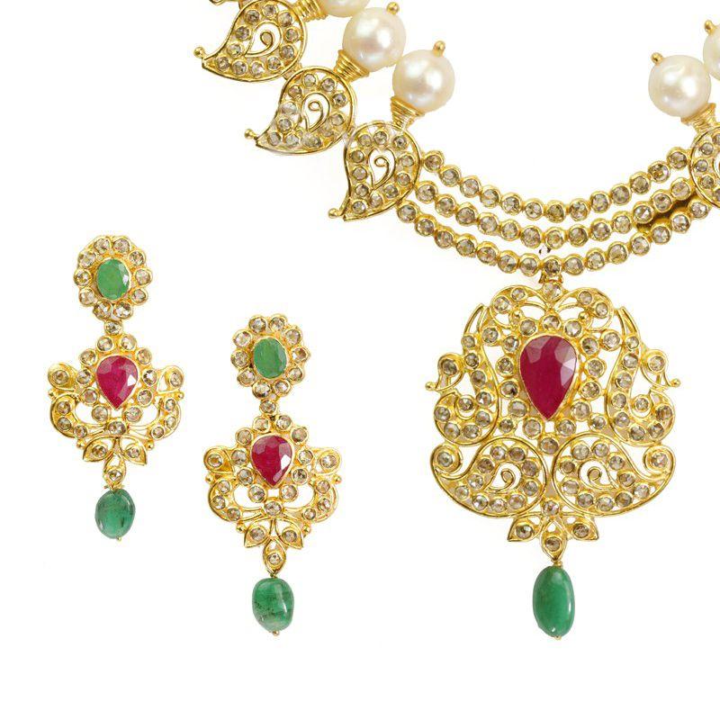 22k Diamond Swarna Diamond Necklace
