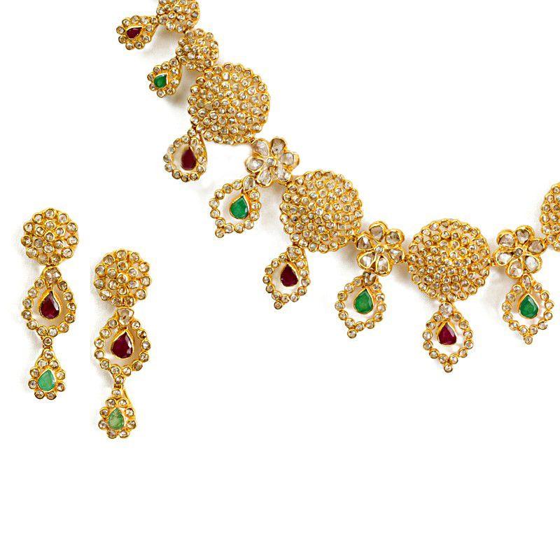 22k Diamond Bandini Diamond Necklace