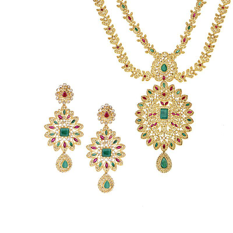 22k Diamond Arika Uncut Diamond Necklace