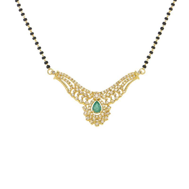 22k Diamond Uncut Diamond Designer Mangalsutra