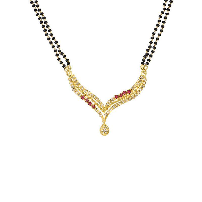 22k Diamond Kashvi Uncut Diamonds Mangalsutra