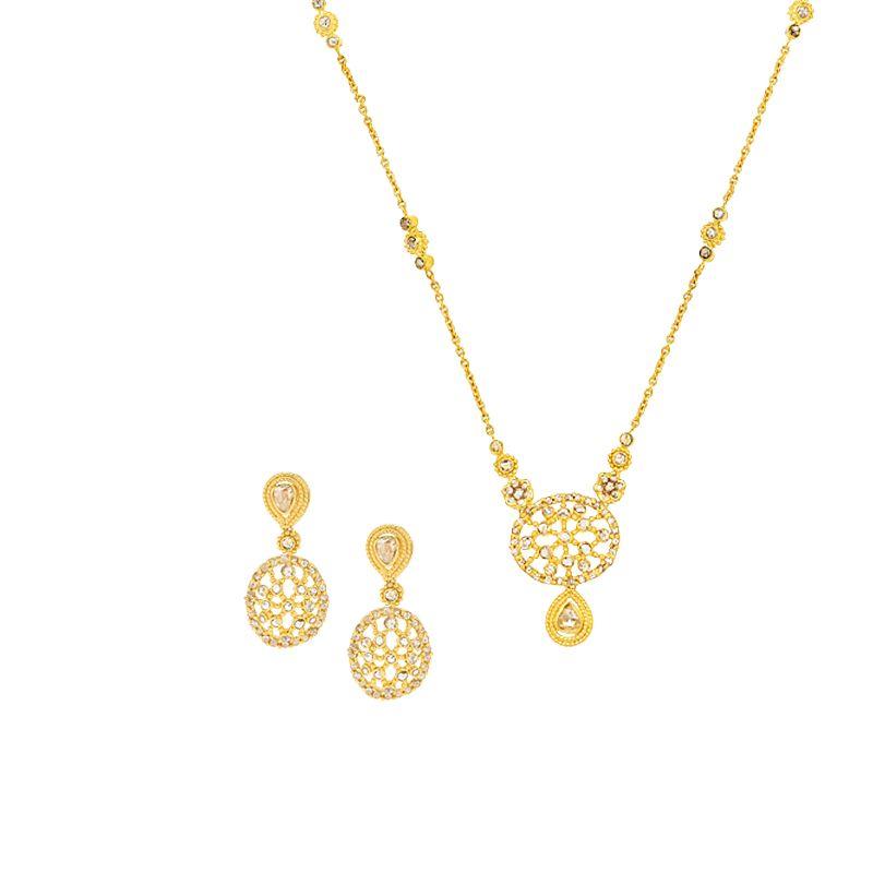 22k Diamond Adah Uncut Diamond Necklace