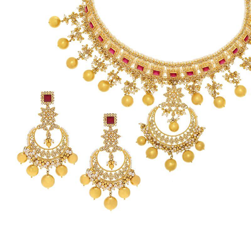 22k Diamond Bridal Uncut Diamond Necklace