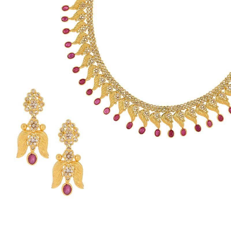 22k Diamond Nalini Uncut Diamond Necklace