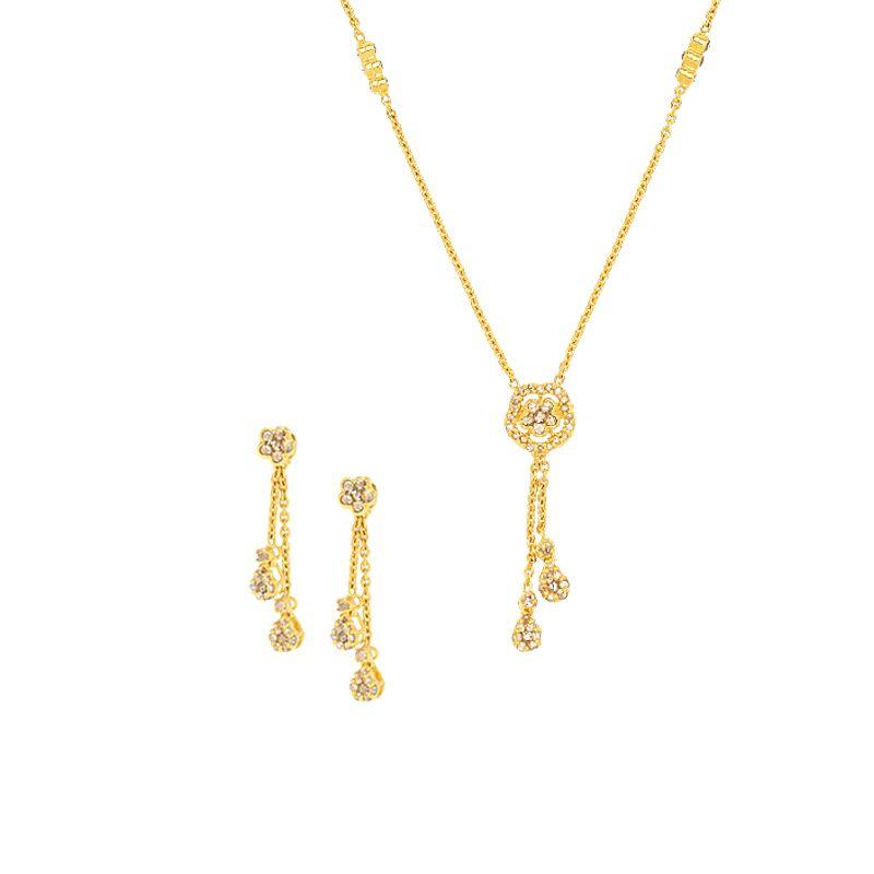 22k Diamond Tassel Uncut Diamond Necklace