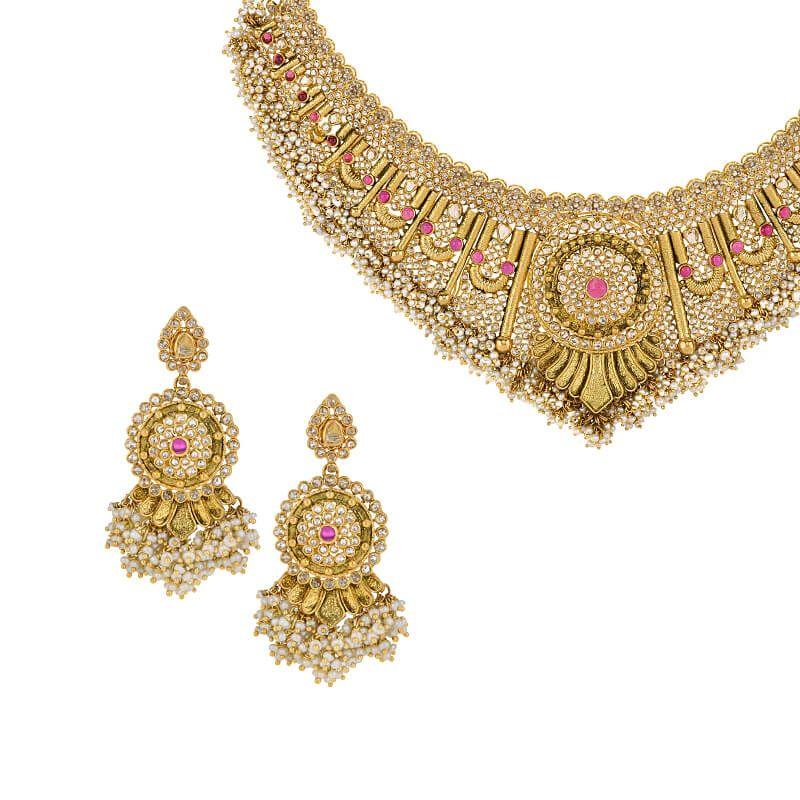 22k Diamond Antara Uncut Diamonds Necklace
