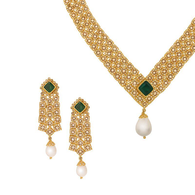 22k Diamond Shimmer Uncut Diamond Necklace