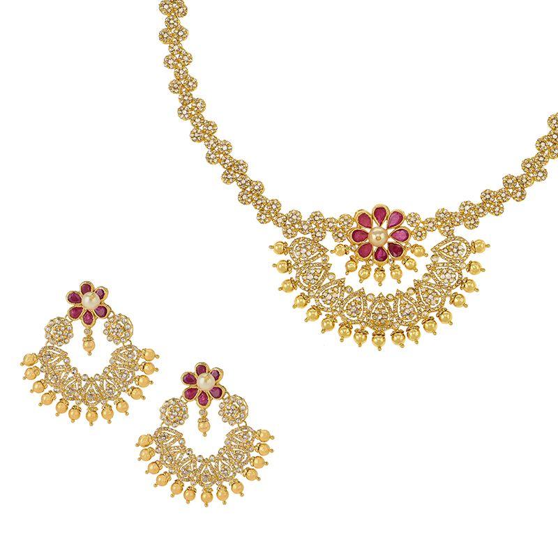 22k Diamond Dazzle Uncut Diamond Necklace