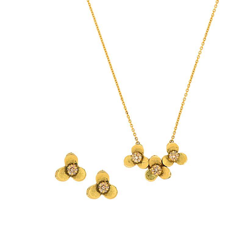 22k Diamond Dainty Uncut Diamond Necklace