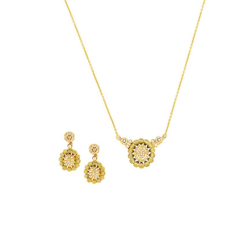 22k Diamond Charm Diamond Necklace
