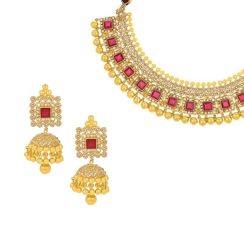 22k Diamond Uncut Diamonds Collar Necklace
