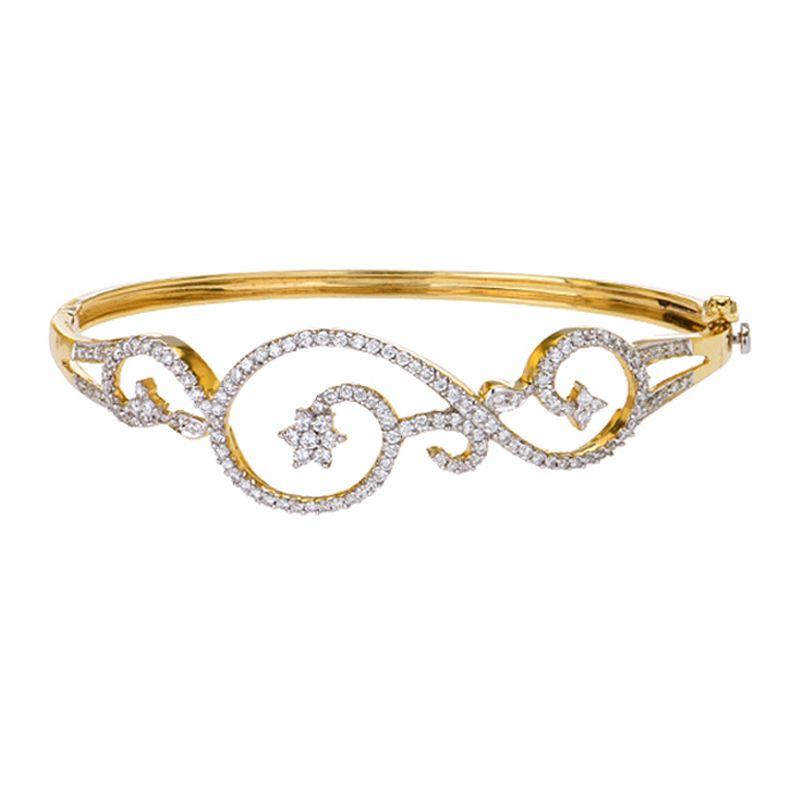 18k Diamond Artistic Diamond Bangle Bracelet
