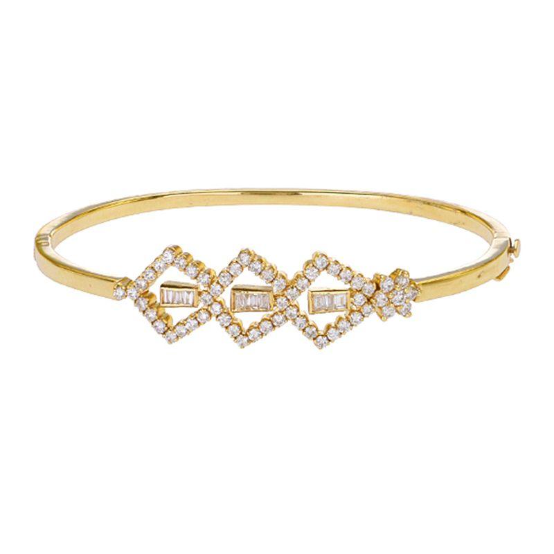 18k Diamond Pave Diamond Bangle Bracelet