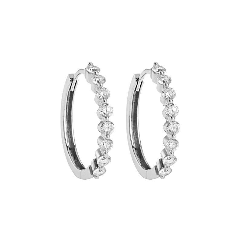 18k Diamond Diamond Hoop Earrings