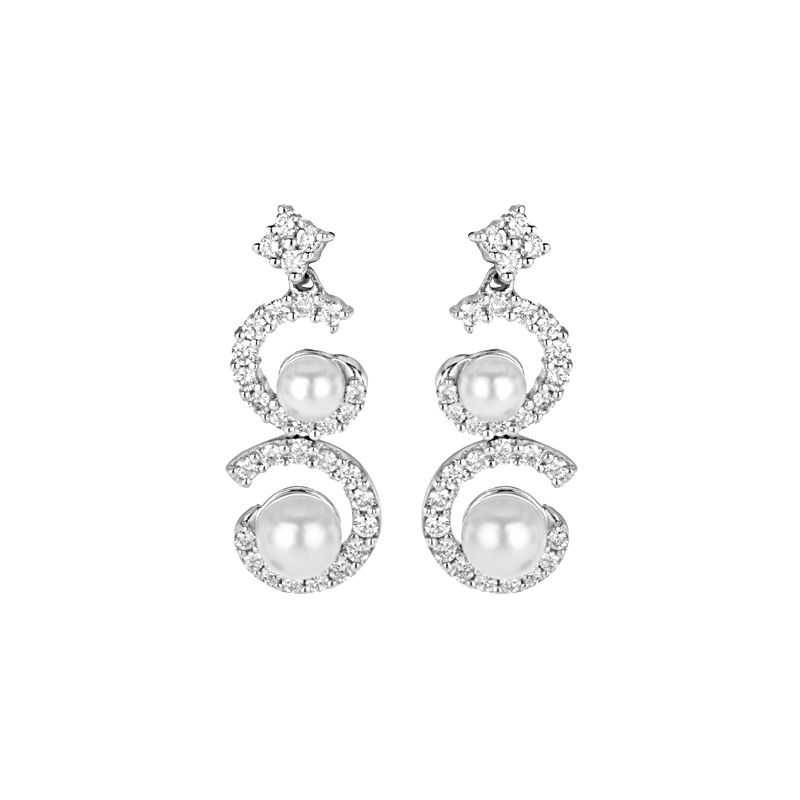 18k Diamond 18K Diamond Drop Earrings