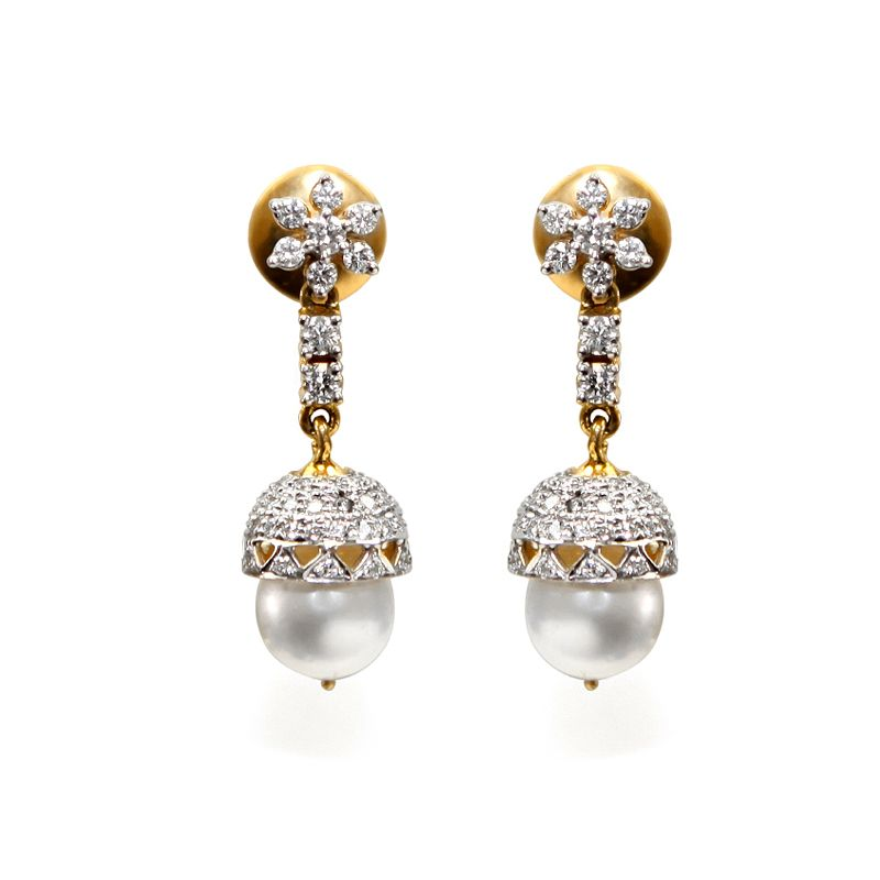 18k Diamond Bluma Diamond Earrings