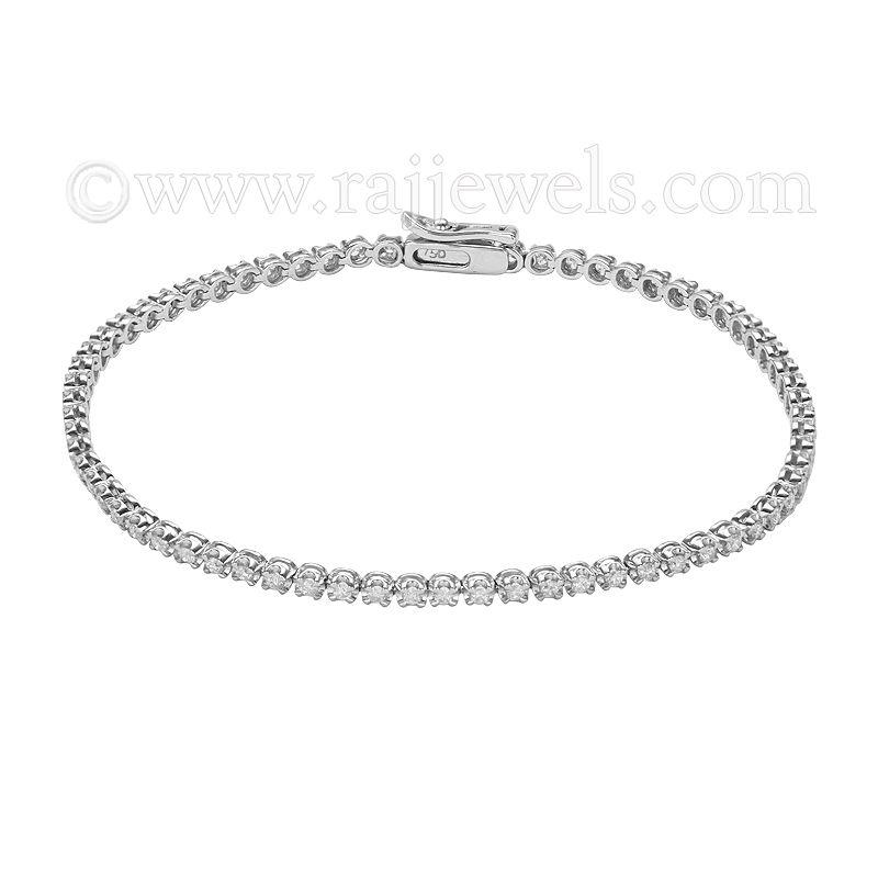 18k Diamond 1 Carat Tennis Bracelet
