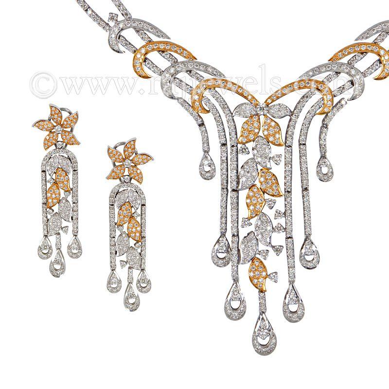 18k Diamond Azure Diamond Necklace