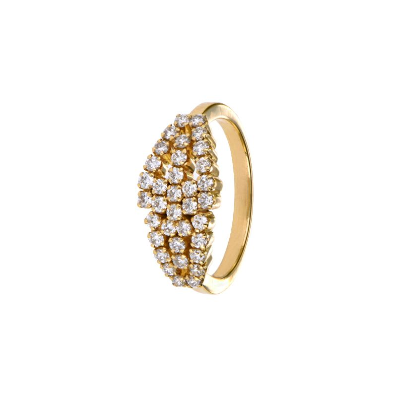 18k Diamond Cluster of Diamonds Ring