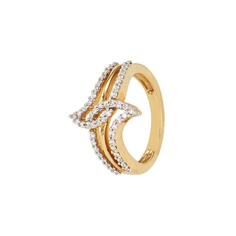 18k Diamond Sea Fish Ring