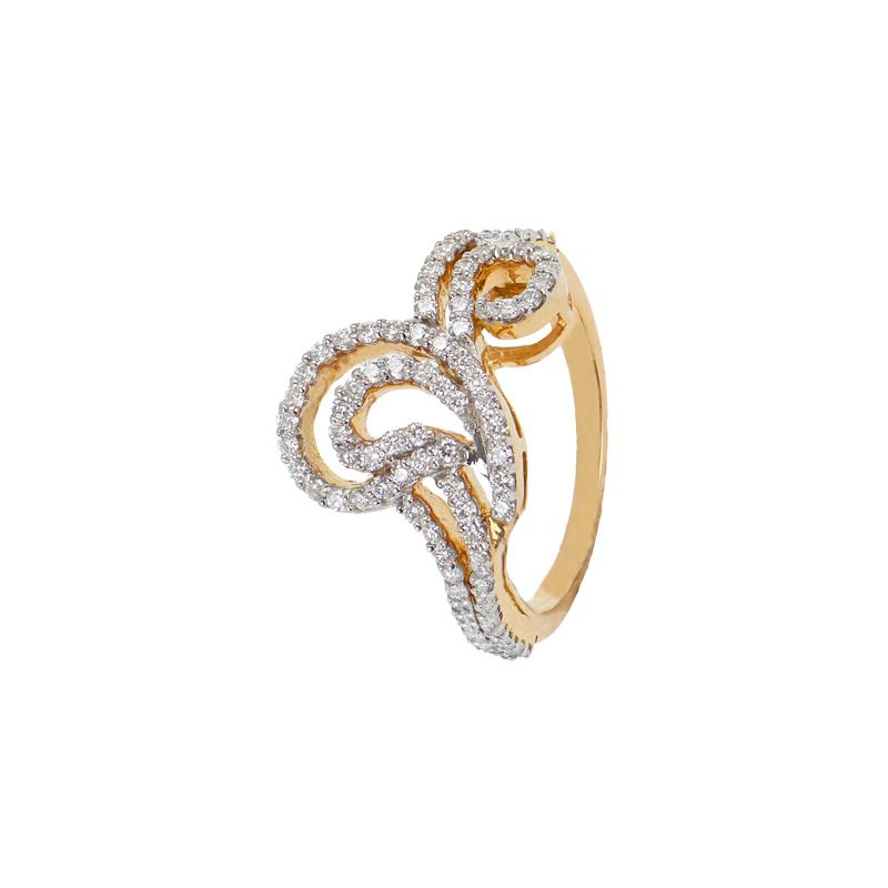 18k Diamond Bulovia Diamond Ring