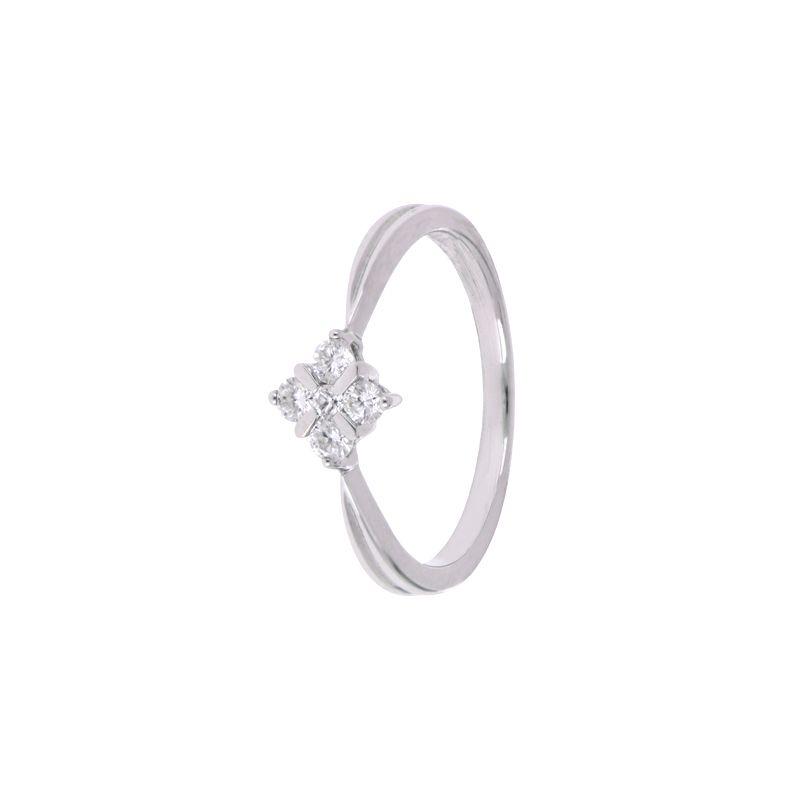 18k Diamond Four Stone Diamond Ring