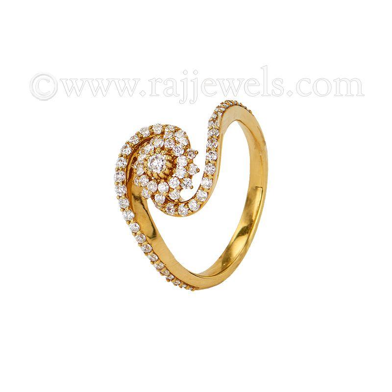 18k Diamond Diamond Twirl Ring