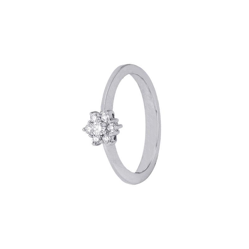 18k Diamond Classic Cluster Diamond Ring