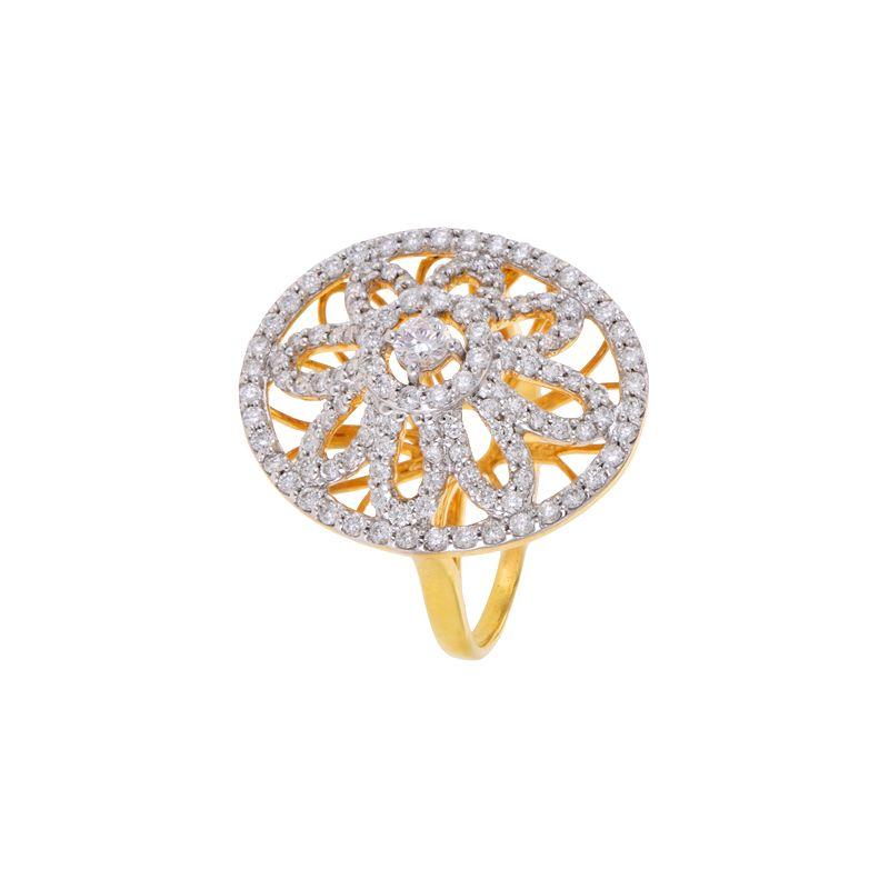 18k Diamond Quintessa Cocktail Diamond Ring