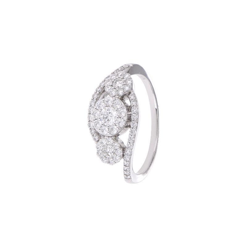 18k Diamond Artistic Cluster Diamond Ring