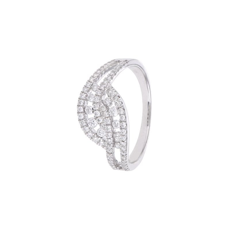 18k Diamond Fancy Diamond Cluster Ring