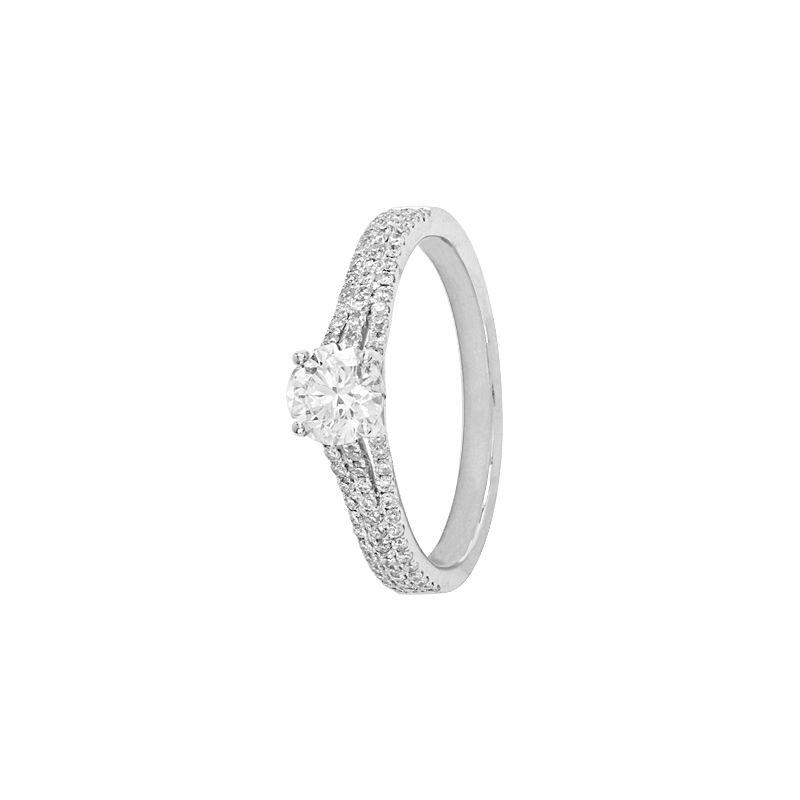 18k Diamond Crysa Solitaire Diamond Ring
