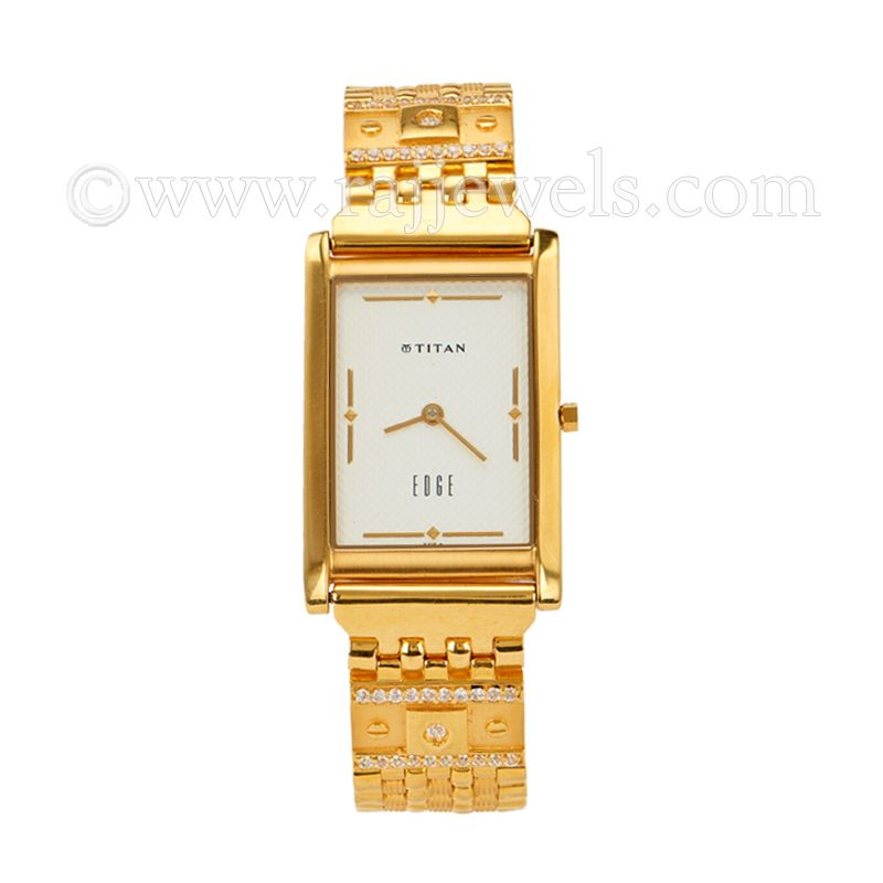 22k Gold Men's Cz Gold Watch
