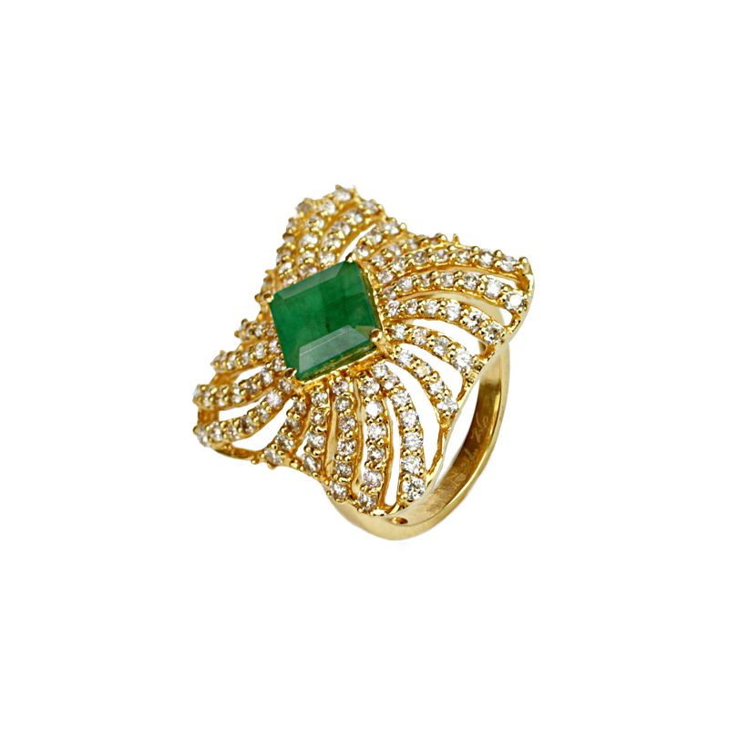 18k Diamond Mirage Cocktail Diamond Ring