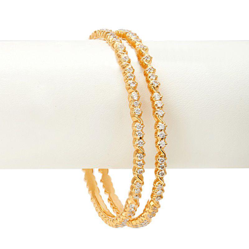 18k Diamond Diamond Studded Bangles