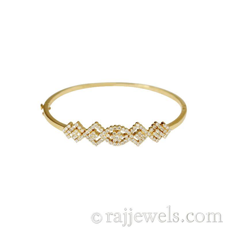 18k Diamond Cluster Diamonds Oval Bracelet