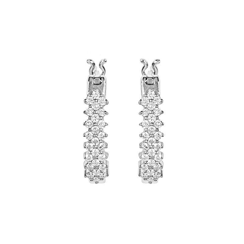 18k Diamond Twilight Diamond Huggies