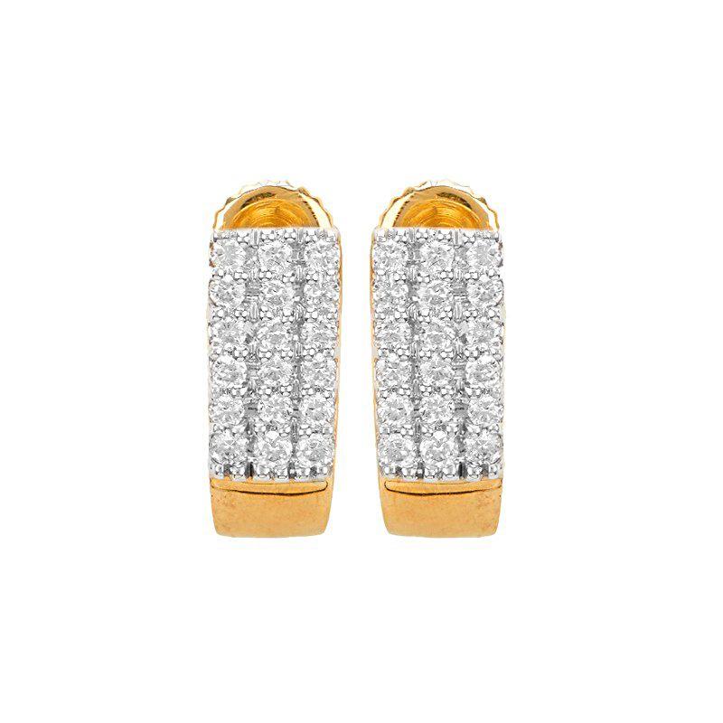 18k Diamond Yalanga Diamond Huggies