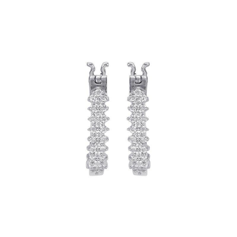 18k Diamond Pierra Diamond Huggies