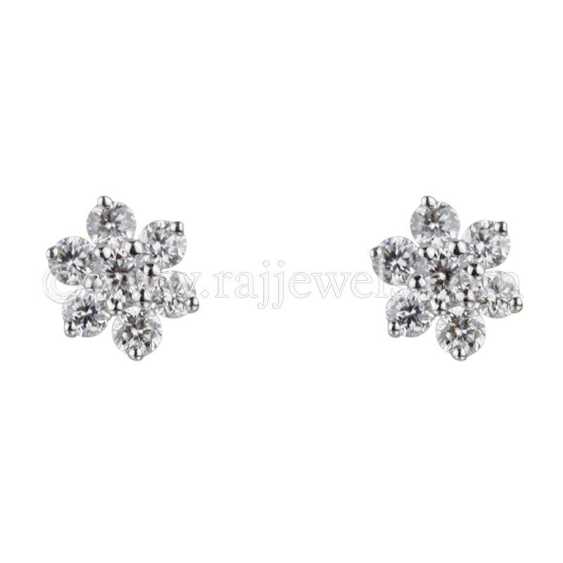 18k Diamond 18k White Gold Diamond Stud Earrings