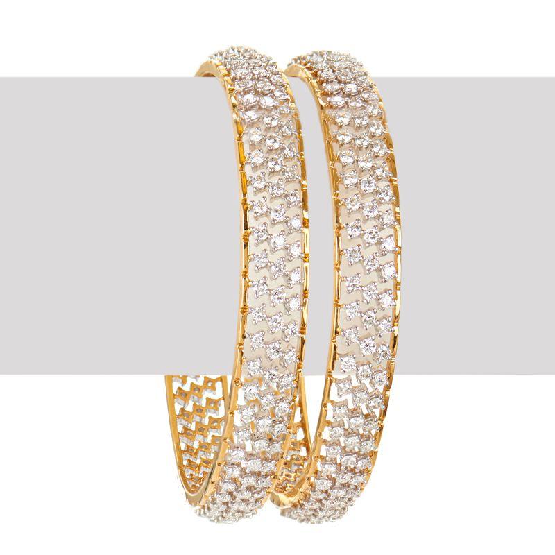 18k Diamond Glaze Diamond Bangles