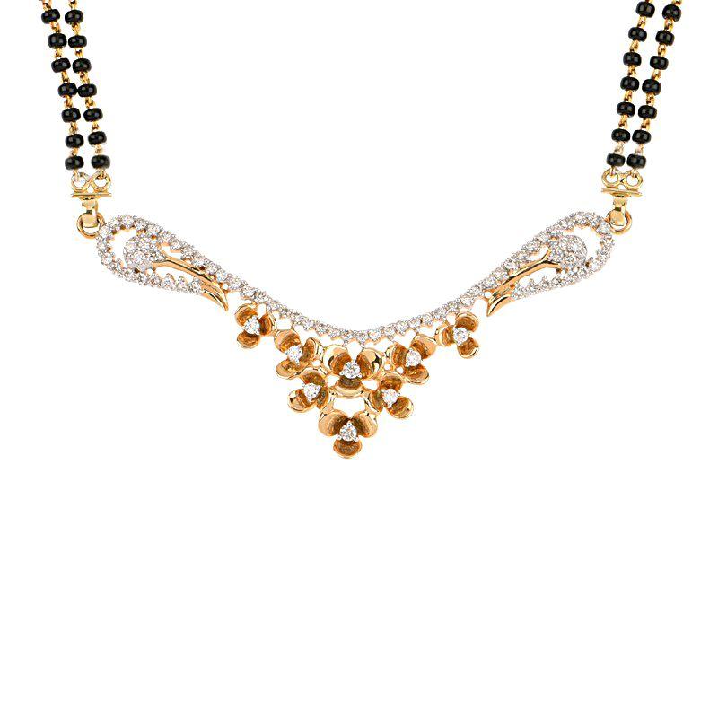 18k Diamond Trelisa Diamond Mangalsutra