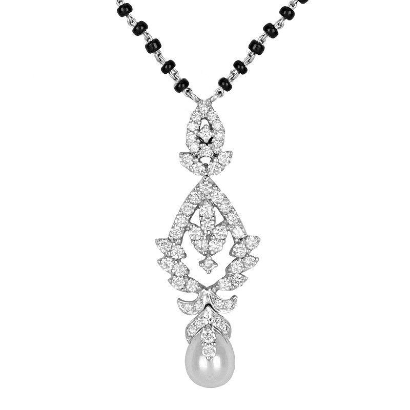 18k Diamond Diamond Pearl Mangalsutra