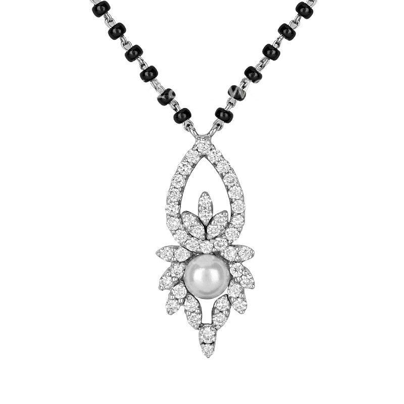 18k Diamond Petite Pendant Mangalsutra