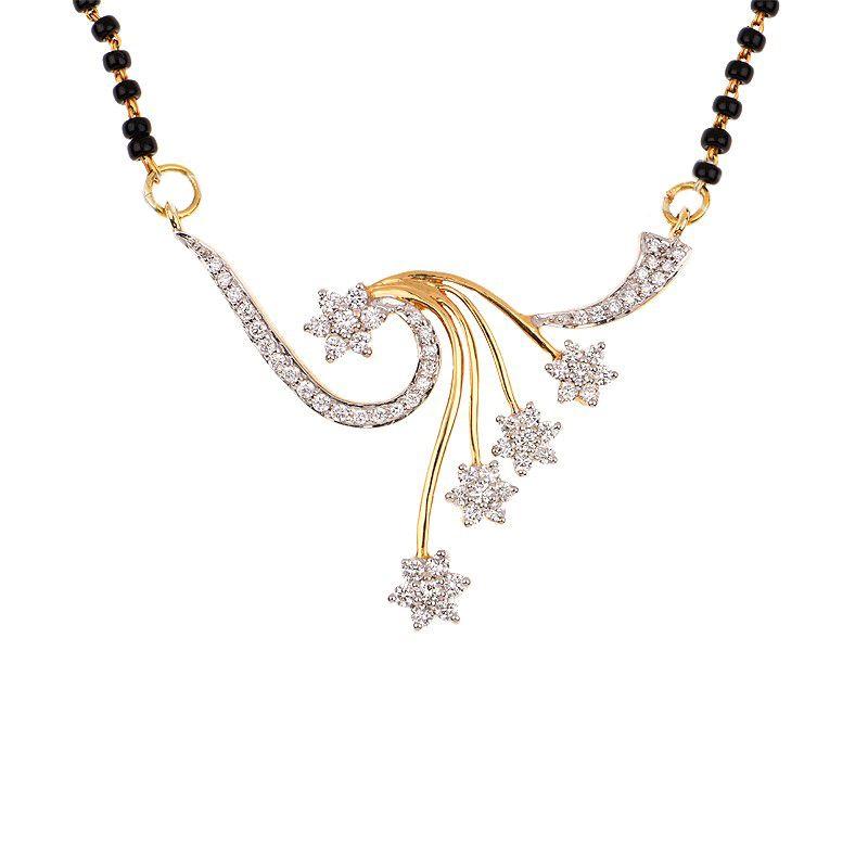 18k Diamond Sitara Diamond Mangalsutra