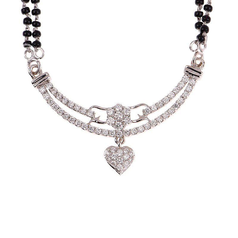 18k Diamond Diamond Heart Mangalsutra